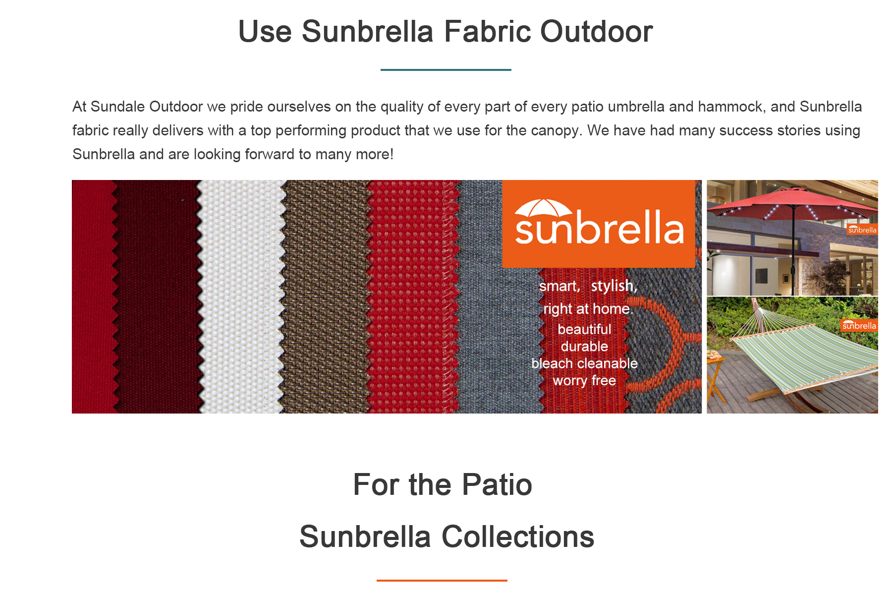 Sundale Sunbrella Fabric Products Hammock And Patio Umbrella